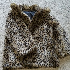 COPY - Like new animal  print Girls coat